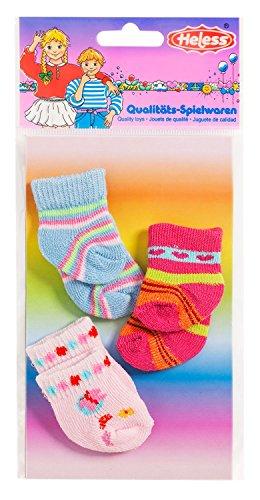 Heless 763heless Chaussettes à rayures pour les petits poupée (3 paire)