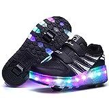 HappyHome Roller Skates Schuhe Mädchen Jungen Roller Schuhe Kinder Rad Schuhe Roller Sneakers Schuhe mit Rädern für Kinder