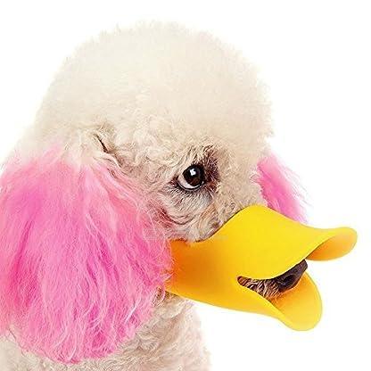 Enjoymore Pet Dog Muzzle Ultra-Soft Silicone Duckbill Mouth Sleeve Anti-biting Barking Pet Dog Adjustable Safety Muzzle… 2