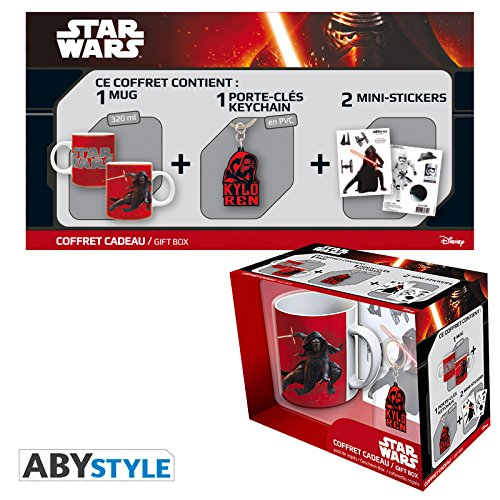 ABYstyle – Dragon Ball Star Wars Gift Box Taza con llavero y Sticker Kylo Ren Unisex-Adult, abypck078