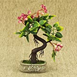 #3: AVMART Pink Fruit Tree Love 8 Inch Artificial Tree for Indoor/Outdoor Home, Office, Garden Lawn Decoration with Pot for Gift & Home Decor