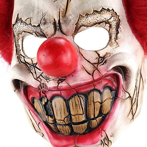 Xiao-masken Latex Joker Clown Maske Kostüm Lustige Gruselige Gruselige Gruselige Halloween Clown Maske Full Head Big Nose Jester