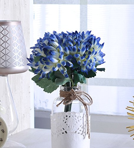 Fourwalls Artificial Polyester and Plastic Chrysanthemum Flower Bunch (10 cm x 10...