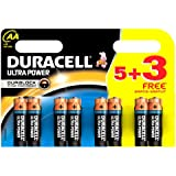 Duracell MX1500 Ultra Power AA Size Batteries - Pack of 8 Batteries