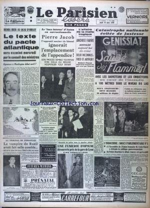 PARISIEN LIBERE EDITION DE PARIS (LE) [No 1395] du 10/03/1949