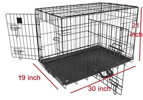 Jaula de Metal genérica para Mascotas, tamaño Mediano, Jaula de Entrenamiento para Perro, Jaula de Metal Plegable para Cachorros tamaño Mediano