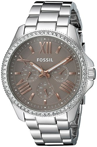 Fossil Women's AM4628 Silver Stainless-Steel Quartz Fashion Watch