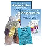 EDELSTEINE für WASSER FIT & SCHLANK 4-tlg SET. 300g WASSERSTEINE zur Wasseraufbereitung für Trinkwasser + Anleitung Wasser-Energetisierung + Booklet + Zubehör. 90038