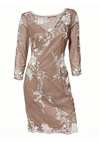 Kleid Cocktailkleid von Ashley Brooke - Taupe Gr. 34