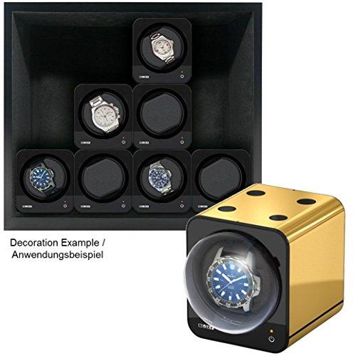 Beco Boxy HOUSE für Fancy Brick Uhrenbeweger – SCHWARZ – inkl. Grundplatte für die Stromspeisung von 1 bis 12 modularen Fancy Brick Uhrenbewegern dank Power Sharing Technologie – von Beco Technic - 3