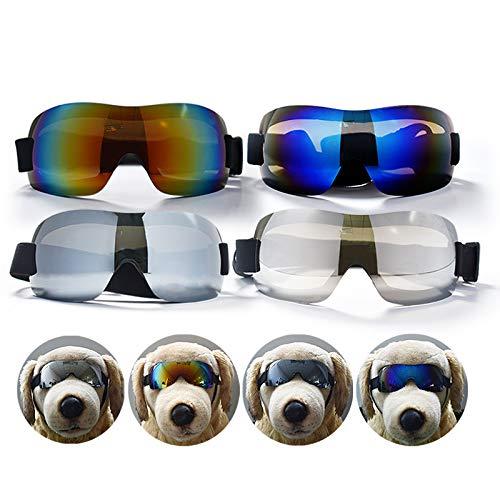 MuzMuzTV Hundebrille, Sonnenbrille, verstellbare Brillen, UV-wasserdicht, Winddicht, für mittelgroße bis große Hunde und Katzen, Blau