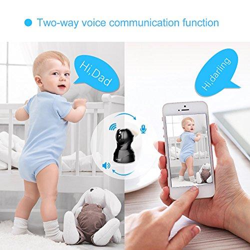 1080P HD Wireless Wlan/Wifi IP Kamera Überwachungskamera 2MP Aoleca Zweiwege-Audio Indoor Kabellose Security IP Cam Home Baby Monitor Mit Bewegungserkennung - 4