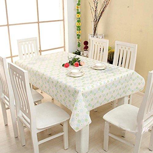 HM&DX PVC Impermeable Manteles de mesa Aceite Lavables Resistentes a las manchas Flores Café comedor Manteles salon Cubierta de escritorio-A 90x140cm(35x55inch)