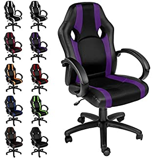 TecTake Silla de oficina sillon de despacho ejecutivo estudio giratoria racing – disponible en diferentes colores –