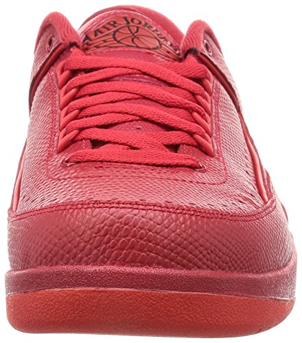 Nike Air Jordan 2 Retro Low, Chaussures de Sport-Basketball Homme Rouge - Rojo (Gym Red / Unvrsty Red-Hypr Trq)