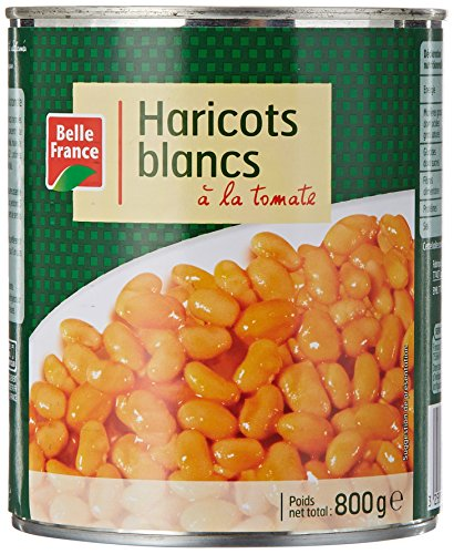 Belle France Haricots Blancs à la Tomate 530 g - Lot de 12