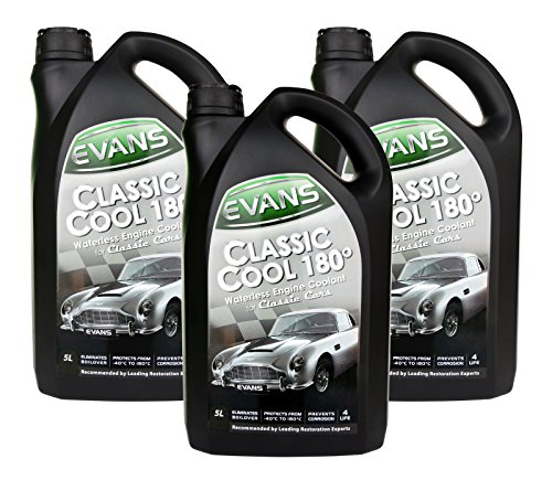 Engine coolant without water, Evans Classic Cool 180, for classic cars, 5 liters
