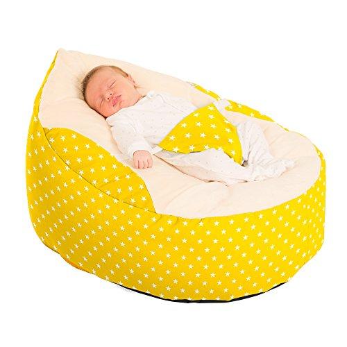 Luxury Cuddle Soft Sterne Baby GaGa Sitzsack Staubbeutel (gelb)