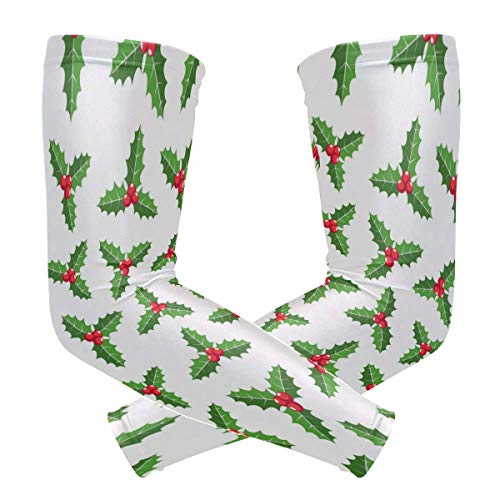 Malpela Weihnachts-Ornament Mistelzweig, Anti-Sonne, lange Arme, fingerlose Ärmel (Sport-ornamente, Weihnachten)