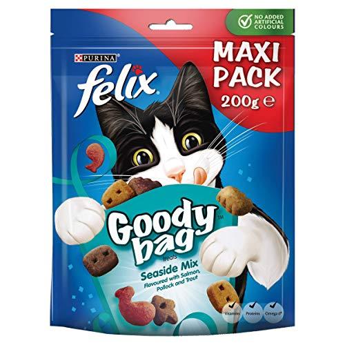 Felix Snackbeutel Seaside Mix Katzensnacks, 5er Packung