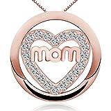 timoo Mujer 925Plata de ley Collar colgante forma de corazón mamá Amor Italia joyas collares 45cm