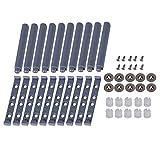 BQLZR Grau Push-System Daempfer Puffer fuer Schranktuer Auszugssperre 10 zu oeffnen Riegel mit magnetischer Spitze Pack