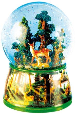 Spieluhrenwelt 46068 Schneekugel Rehe (Fleur Music Box)