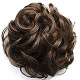 PRETTYSHOP Voluminöses DUTT Haarteil gewellt Haarknoten Haargummi Hepburn-Dutt Haarverdichtung divese Farben (hell braun 12C)