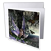 "3dRose gc_22526_1 6 x 6-Inch""Amazed a Fairy That is Amazed"" Greeting Card (Pack of 6)"