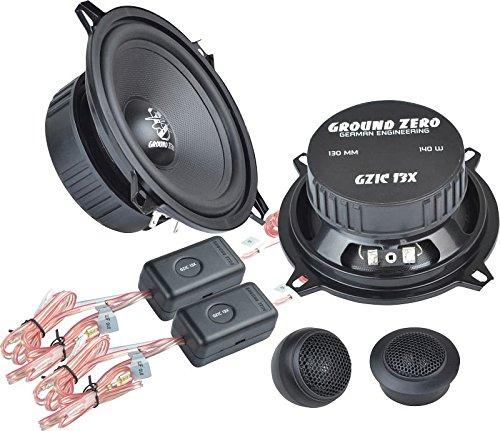 Ground Zero Iridium GZIC 13X Auto Lautsprecher Kompo-System 280 Watt für BMW 3er E36 01/91 - 04/98 Einbauort vorne :Fußraum vorne / hinten : --