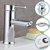 Chrom Moderne Badezimmer Waschtisch Spüle Hebel Messing Mono-Mischarmatur, mit Ablaufgarnitur