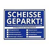 Scheisse Geparkt! Haftnotizen mit Softcover im 50er Set - Klebezettel Notizzettel