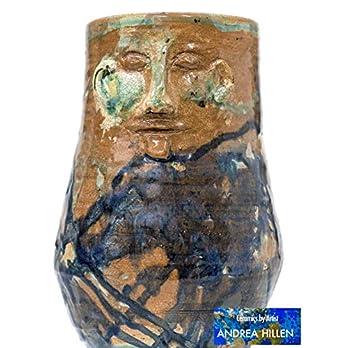 """Keramik Vase""""Wächter der Blumen"""""""