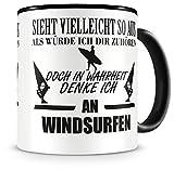 Samunshi® Ich denke an Windsurfen Tasse Kaffeetasse Teetasse Kaffeepott Kaffeebecher Becher