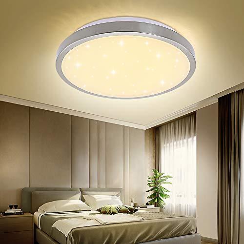 VINGO® 16W LED Deckenleuchte Warmweiß Wohnzimmerlampe Küchenleuchte Deckenbeleuchtung Panel Lüster Sternenhimmel Ultraslim Schlafzimmer Esszimmer energiesparend