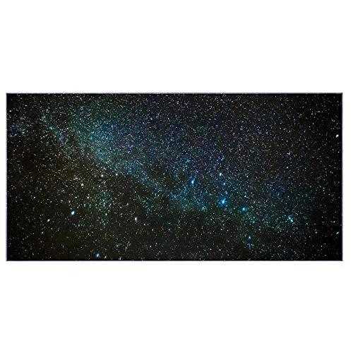 banjado Glas Nischenrückwand für Küche 100cm x 50cm   Küchenrückwand mit Motiv Nachthimmel   Spritzschutz selbstklebend ohne Bohren   Fliesenspiegel magnetisch und beschreibbar