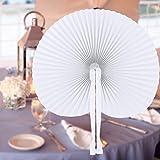 60 Stücke handfächer, Papier und Plastik fächer für Hochzeit & Party (round)