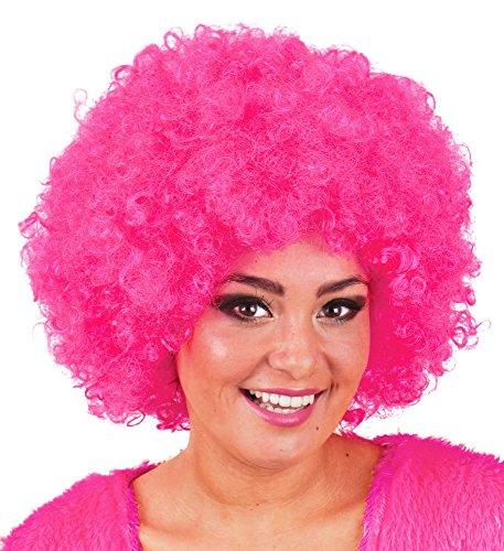 Afro Perücke Jayda - Locken zum Party Kostüm Clown Hippie - Rosa