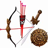 #5: Halo Nation Bahubali Weapon Set for Kids - Archery Set, Kings Sword of Pride, & Many More Accessories (Fire)