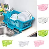#2: Dealcrox Multi Kitchen Sink Dish Plate Drainer Drying Rack Wash Organizer Tray Holder Basket