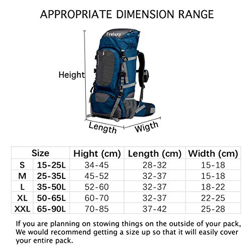 51y%2BcPhIkUL. SS500  - Frelaxy Waterproof Backpack Rain Cover, 15-90L Rucksack Bag Cover with Upgraded Non-Slip Cross Buckle Strap & Rainproof Storage Pouch & Silver PU Coating, Perfect for Outdoor Activities