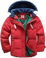 ipretty Winter Down Jacket Jungen verdickte Winterjacke Jungen Mantel verdickte Mädchen Trenchcoat Jungen Outerwear mit Kapuzen