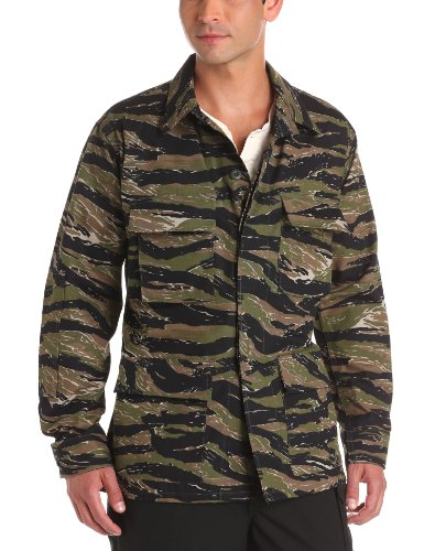 Propper Herren BDU Mantel Jacke, Herren, Asian Tiger Stripe, X-Small Original Tiger Stripe