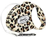 Flexi Fashion ausziehbarem Gürtel-Dog, Leine, klein, Schneidlänge: 25, unterstützt bis zu 26-Pound, braun/schwarz Leopard Design