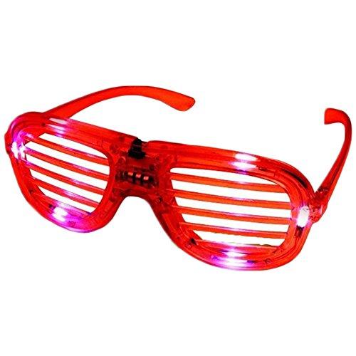 Nicky Spaßbrille LED Brille Party Gitterbrille Halloween Kostüm Klub Nachtclub Konzert Zubehör Lustig Kostüm in Zufällig Farben
