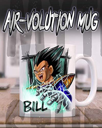 Mythic Airbrush Personalisierte Airbrush Anime-Charakter Keramik-Kaffeetasse Weiß