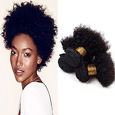Brazilian Unprocessed Virgin Afro Kinky Curly Hair Extension Natural Color by Veravicky