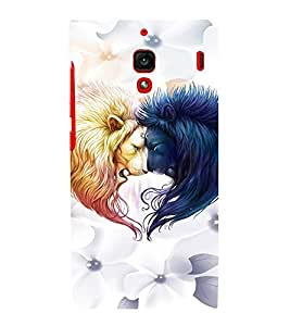EPICCASE Lions head-to-head Mobile Back Case Cover For Xiaomi RedMi 1S (Designer Case)