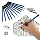 Lapices De Dibujo Artístico, Lypumso 33 Piezas Set de Lápices Profesional Carbón Grafito Sticks. Lápices de Madera.