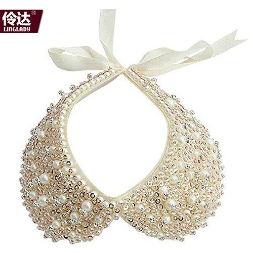 5% Der in Europa und den USA spezielle Paket post Linda schmuck retro - Rosa perle Kinder hemd kragen an den kragen - kette (Klassische Paare Kostüme)